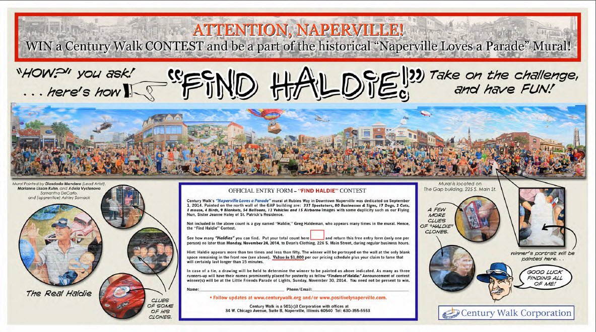 Find Haldie Contest Offiical Entry Form